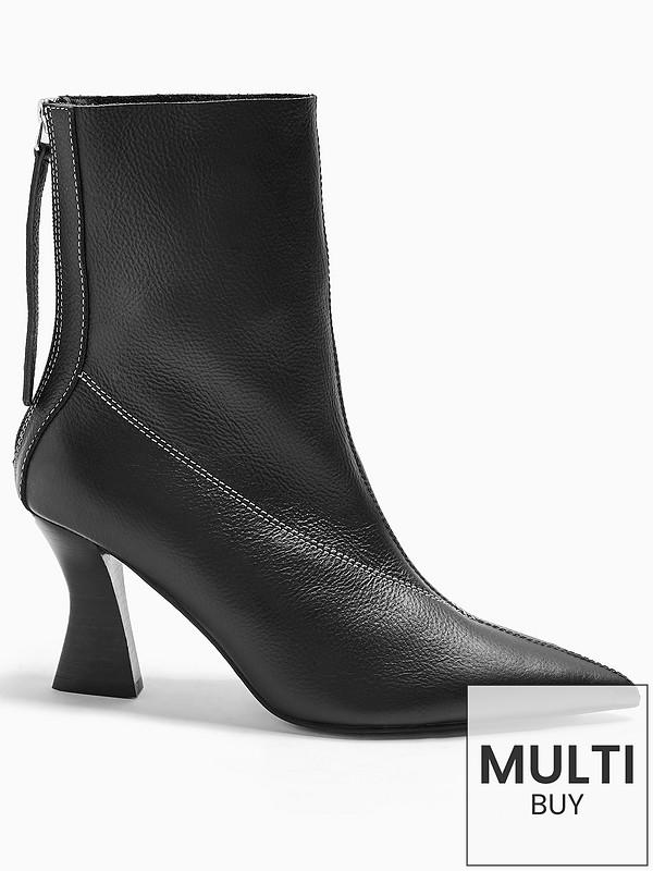 Topshop Mara Point Boots Black