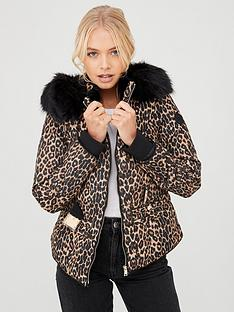 river-island-river-island-leopard-print-belted-padded-jacket-brown
