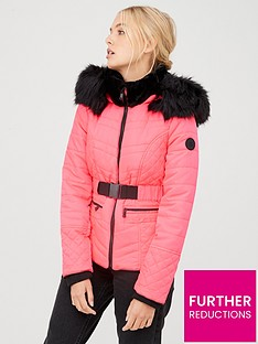 river-island-river-island-fluro-belted-padded-jacket-pink