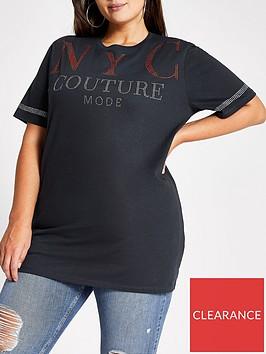ri-plus-ri-plus-nyc-slogan-oversized-t-shirt-black