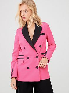 river-island-contrast-trim-blazer-pink