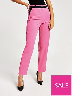 river-island-river-island-contrast-blocked-trouser--pink