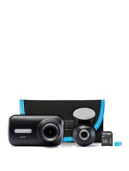 Nextbase 322 Dash Cam Exclusive Bundle With Rear Camera, 32Gb Memory Card And Carry Case