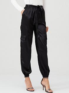 v-by-very-satin-pocket-detail-utility-trouser-black