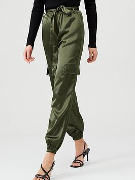 v-by-very-satin-pocket-detail-utility-trouser-khaki