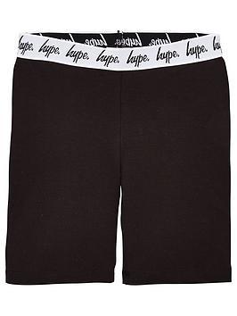 hype-girls-waistband-cycling-shorts-black