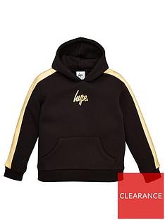 hype-boys-foil-panel-overhead-hoodie-black