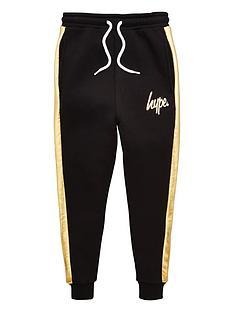 hype-boys-foil-panel-jog-pants-black
