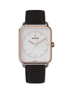 david-daper-david-daper-white-and-rose-gold-38mm-tank-dial-black-leather-strap-watch