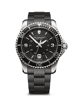 victorinox-victorinox-swiss-made-maverick-black-sapphire-glass-43mm-date-dial-black-rubber-strap-watch