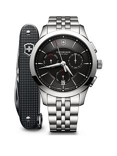 victorinox-victorinox-swiss-made-alliance-black-sapphire-glass-44mm-chronograph-dial-stainless-steel-bracelet-watch-and-swiss-army-knife-gift-set