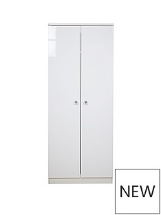 SWIFT Lumiere Ready Assembled 2 Door Wardrobe with Lights