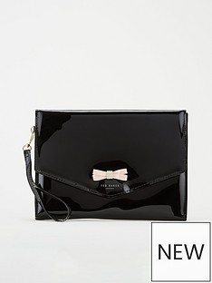 ted-baker-canei-bow-detail-envelope-pouch-black