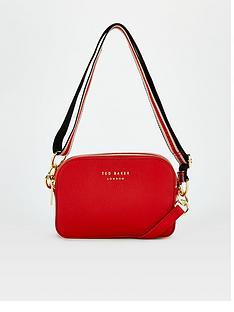 ted-baker-branded-webbing-strap-camera-bag-red