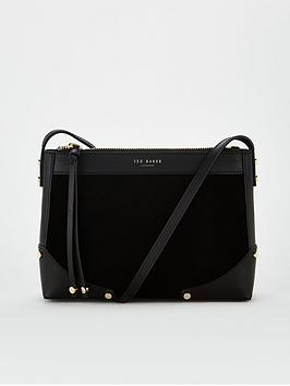 ted-baker-audreiy-folded-corner-detail-cross-body-bag-black