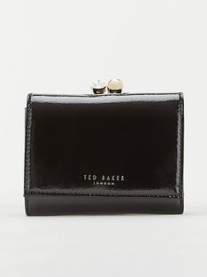 ted-baker-emeey-crinkle-patent-mini-bobble-purse-black