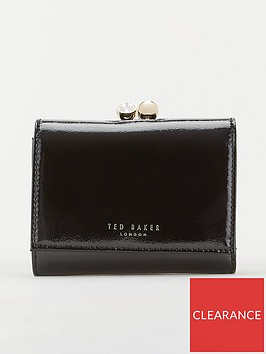 ted-baker-emeey-crinkle-patent-mini-bobble-purse-black
