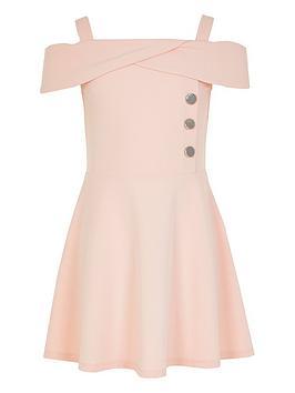 river-island-girls-bardot-button-skater-dress-pink