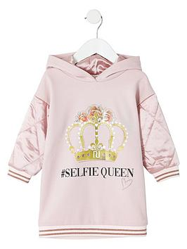 river-island-mini-mini-girls-selfie-queen-hooded-dress-pink