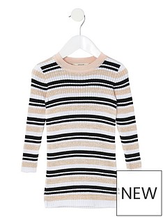 river-island-mini-mini-girls-stripe-knitted-dress-multi