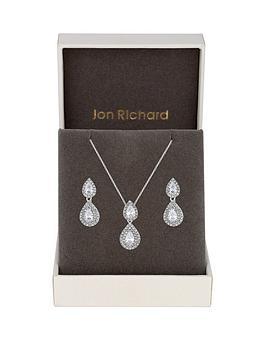 jon-richard-double-pear-drop-pendant-and-earring-set