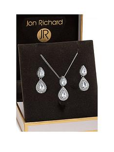 jon-richard-jon-richard-double-pear-drop-pendant-and-earring-set