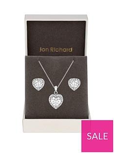 jon-richard-jon-richard-cubic-zirconia-pave-heart-pendant-and-earring-set