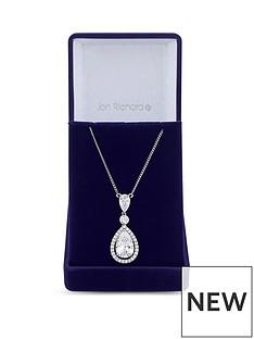 jon-richard-jon-richard-cubic-zirconia-tennis-pear-crystal-drop-pendant