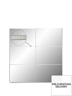 crystal-high-gloss-2-door-sliding-mirrored-wardrobe-with-crystal-strip-detail