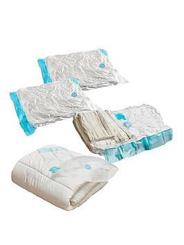 Product photograph showing Addis Bedding Large Vacuum Storage Bag Set - Pack Of 4