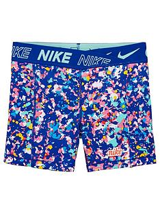 nike-pro-older-girls-training-boyshorts-blue-print