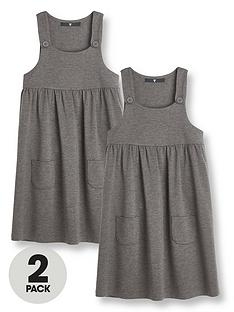 v-by-very-girls-2-pack-jersey-pinaforenbspschool-dresses-grey