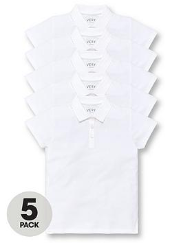 v-by-very-girls-5-pack-school-polo-tops