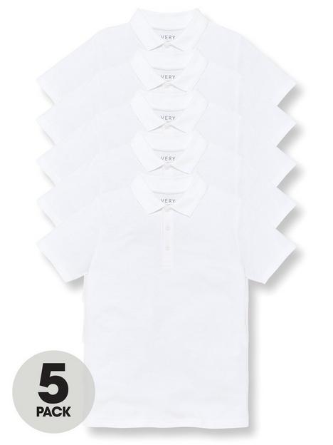 v-by-very-boys-5-pack-polo-school-tops-white