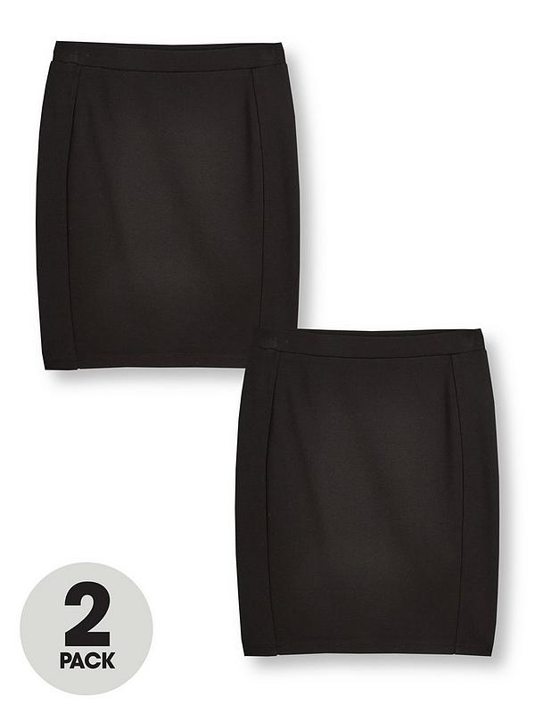 Antologia lago Perù  V by Very Girls Jersey School Tube Skirt (2 Pack) - Black | very.co.uk