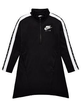 nike-sportswear-air-older-girls-12-zip-dress-black