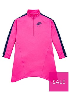 nike-sportswear-air-older-girls-12-zip-dress-pink