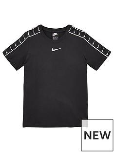 nike-sportswear-older-boys-swoosh-tape-short-sleevenbspt-shirt-black