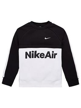 nike-sportswear-air-older-boys-crew-neck-sweat-top-blackwhite