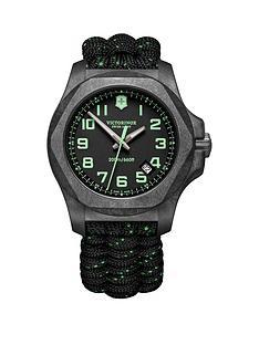 victorinox-victorinox-swiss-made-inox-200m-grey-carbon-sapphire-glass-luminova-43mm-date-dial-grey-green-tracer-paracord-strap-watch-extra-strap-bumper-set