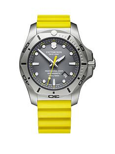 victorinox-victorinox-swiss-made-inox-diver-grey-sapphire-glass-date-dial-steel-45mm-case-yellow-rubber-strap-watch-extra-strap-and-magnifying-glass-bumper