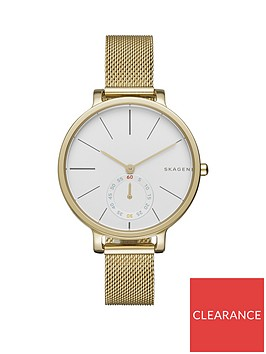 skagen-skagen-white-dial-gold-stainless-steel-mesh-strap-ladies-watch