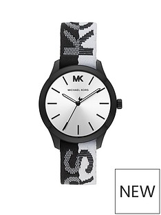 michael-kors-michael-kors-silver-sunray-and-black-detail-dial-two-tone-kors-print-silicone-strap-watch