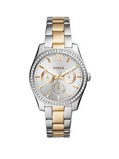 fossil-fossil-silver-sunray-and-gold-detail-multi-dial-two-tone-stainless-steel-bracelet-ladies-watch