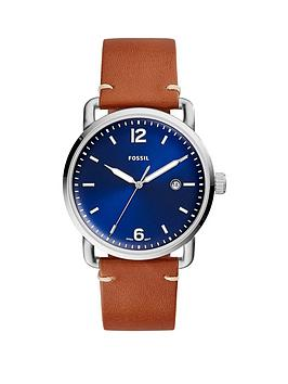 fossil-fossil-blue-and-silver-detail-daydate-dial-brown-leather-strap-mens-watch