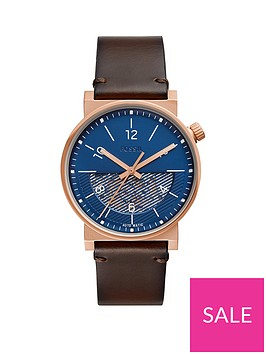 michael-kors-fossil-barstow-automatic-blue-and-rose-gold-case-half-skeleton-automatic-dial-brown-leather-strap-mens-watch