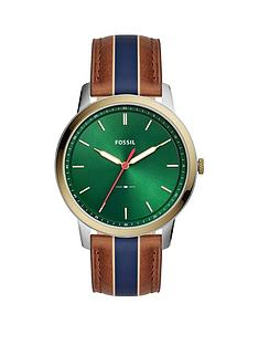 fossil-fossil-green-sunray-and-gold-detail-dial-blue-and-brown-leather-strap-mens-watch