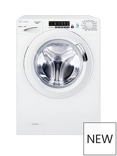 Candy Grand'O Vita GVS 128D3 8kg Load, 1200 Spin Washing Machine with Smart Touch - White Best Price, Cheapest Prices