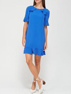 v-by-very-ruffle-detail-tunic-dress-cobalt