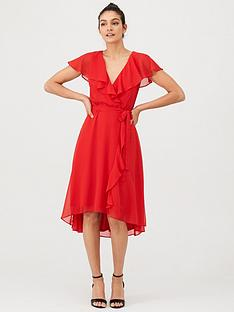 v-by-very-nova-cape-wrap-dress-red